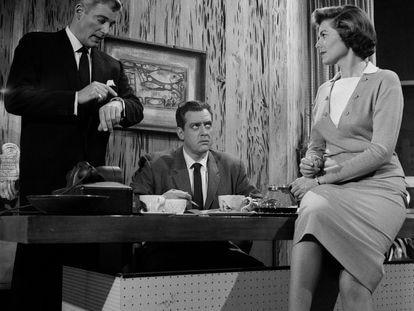 Una escena de Perry Mason en 1958.