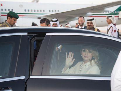 Angélica Rivera, durante una visita de Estado a Kuwait en 2019.