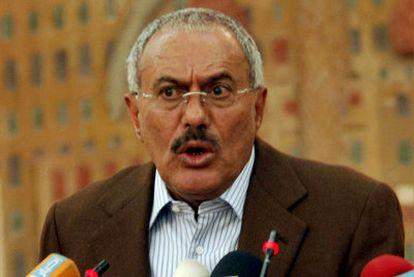 Foto de archivo del presidente de Yemen, Alí Abdalá Saleh