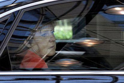 La canciller Angela Merkel, el pasado jueves en Bruselas.