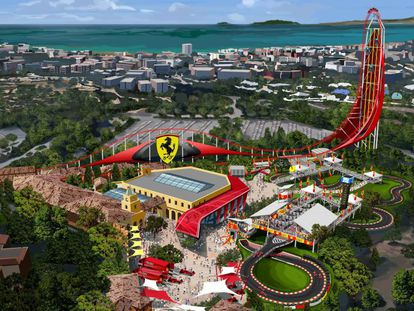 Mauqeta de Ferrari land.