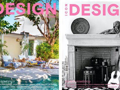 La portada de Icon Design 7 es la casa del fotógrafo Bruce Weber y su mujer Nan Bush en Miami, fotografiada por él mismo.  