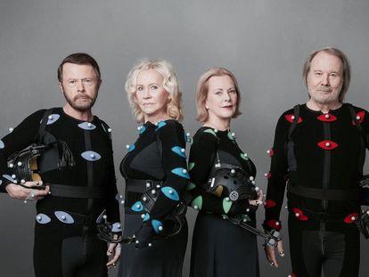 Los miembros de ABBA, en la imagen promocional de 2021.