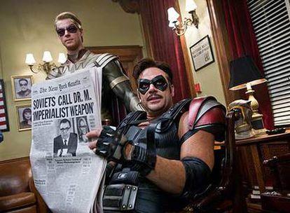 Fotograma de <i>Watchmen, </i>adaptación cinematográfica del clásico del mismo título de Alan Moore y Dave Gibbons.
