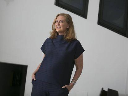 Francesca Thyssen-Bornemisza, en las nuevas oficinas de su fundación, TBA21, en Madrid.
