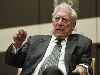 Vargas Llosa, en mayo de 2018 en Madrid.
