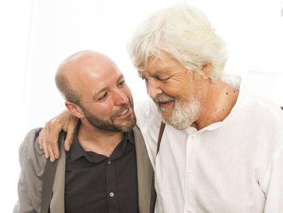 Luís Villares, junto a Xosé Manuel Beiras.