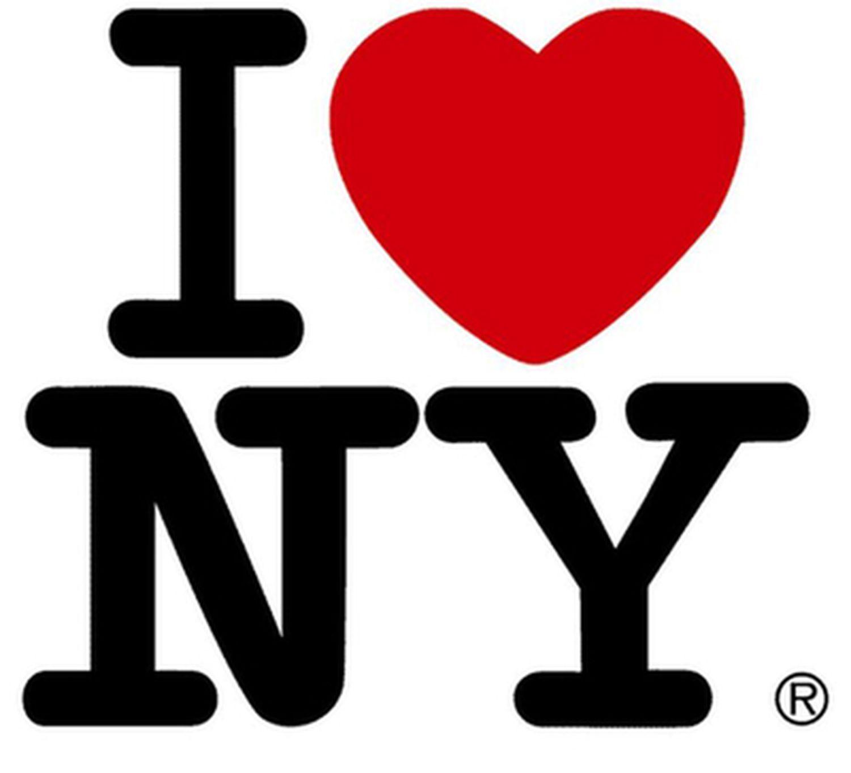 Imagen del logo de la campaña turística de la ciudad de Nueva York que diseñó Milton Glaser en 1977.