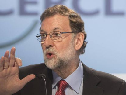 El presidente del Gobierno, Mariano Rajoy, en la jornadas del Circulo de Economía en Sitges.