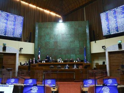 La sesión de la Cámara de Diputados de Chile, este martes.