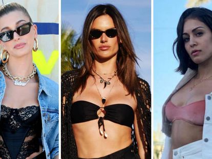 Hailey Baldwin, Alessandra Ambrossio e Hiba Abouk, en Coachella 2019.