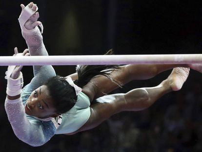 Simone Biles en los Campeonatos de Estados Unidos celebrados en Boston en agosto.