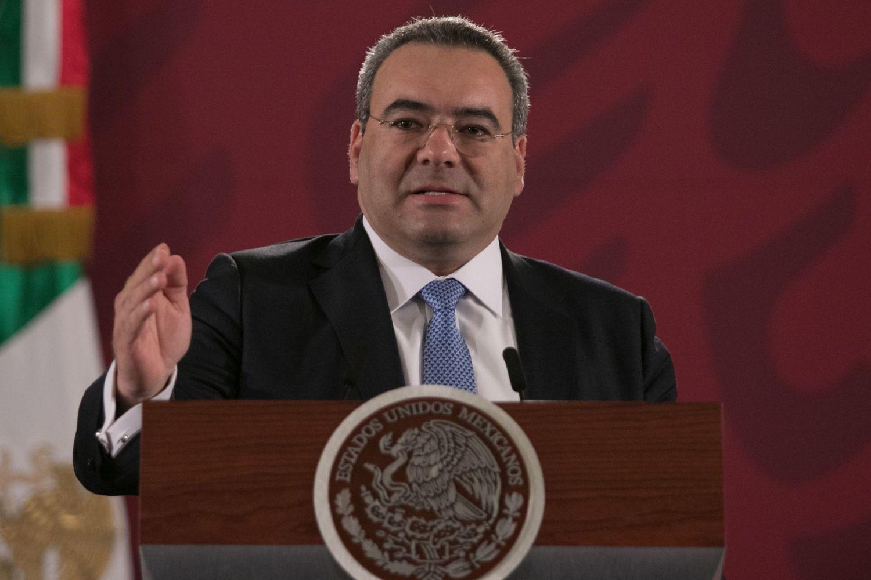 Carlos Romero, Procurador Fiscal de la Secretaría de Hacienda y Crédito Público, durante una conferencia en Ciudad de México.