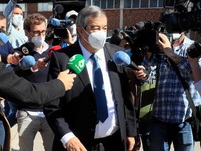 El exsecretario general del PP Francisco Álvarez-Cascos, este martes, a su llegada a la Audiencia Nacional.