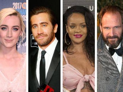 Saoirse Ronan, Jake Gyllenhaal, Rihanna y Ralph Fiennes.