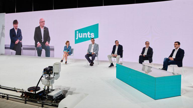 Congreso telemático de Junts el pasado día 25.