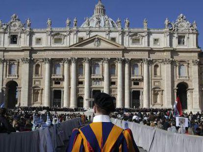 Misa en la plaza de San Pedro del Vaticano en 2013.