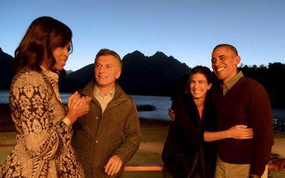 El matrimonio Obama con el presidente argentino y su mujer, durante la visita del entonces presidente de EE UU a Argentina el pasado marzo.