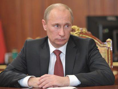 El presidente ruso, Vladímir Putin, en el Kremlin, en Moscú.
