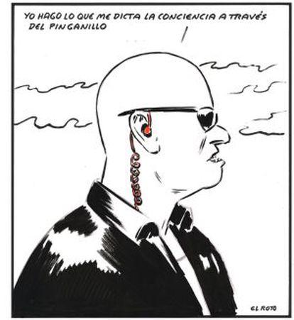 Viñeta enviada por El Roto al ofrecerle participar en este reportaje. Se publicó en EL PAÍS en octubre de 2010.