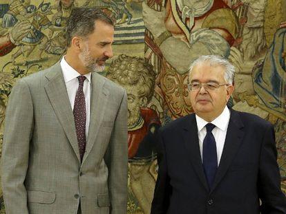 El Rey, este lunes con el presidente del Constitucional, Juan José González Rivas.