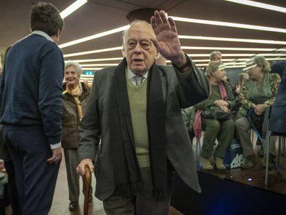 Jordi Pujol, en la presentación de un libro de Artur Mas, en febrero.