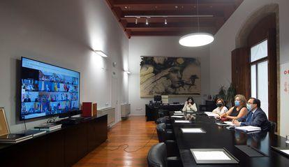 El ministro de Hacienda, Vicent Soler, participa en el Consejo de Política Fiscal y Financiera.