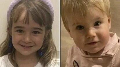 A la izquierda, Olivia, de seis años; a la derecha, Anna, de uno.