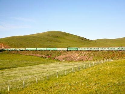 El tren Transiberiano, que une Rusia con el Lejano Oriente.