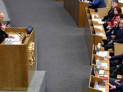 Putin, en la Duma estatal.