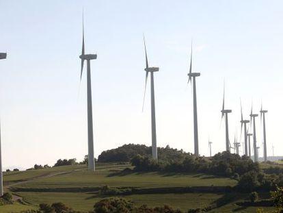 El parque eólico de la sierra del Tallat, en la comarca de Urgell.