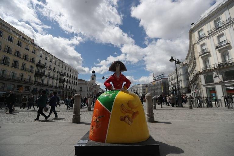 Presentación de la exposición urbana 'Meninas Madrid Gallery', en abril de 2018.