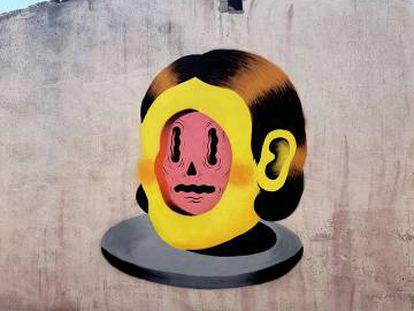 Una de las obras del artista urbano Grip Face