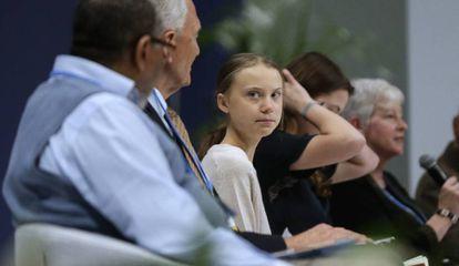 Greta Thunberg, este martes en la Cumbre del Clima.