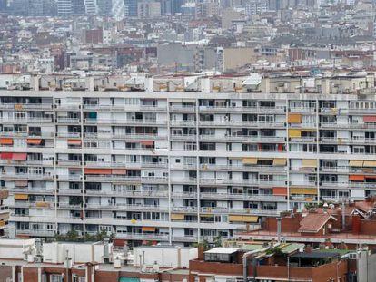 Vista general de viviendas en Barcelona.