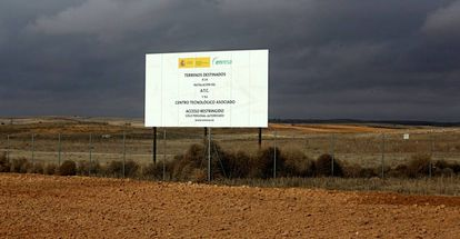 Terrenos destinados para el almacén nuclear de Villar de Cañas.