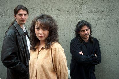 Los componentes del grupo musical Camela, en octubre de 1998.