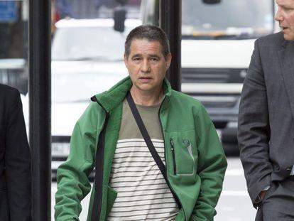 Troitiño, en junio de 2014, a su llegada al Tribunal de Magistrados de Westminster, en Londres.