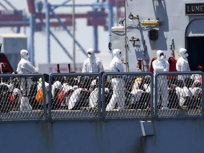 Llegada al puerto de Valencia del barco Aquarius, el pasado 17 de junio.