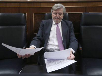 Íñigo Méndez de Vigo, en un pleno del Congreso de los Diputados en marzo de 2017.