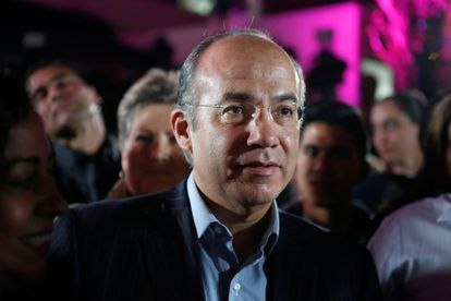 Felipe Calderón, expresidente de México, en un acto de 2018.