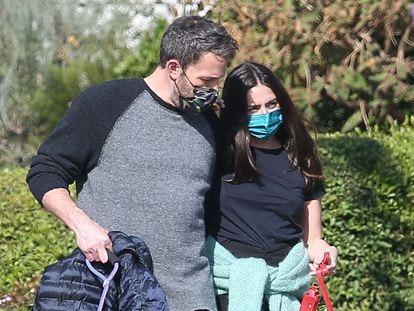 Ben Affleck y Ana de Armas. en Los Ángeles.