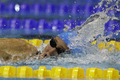 Belmonte, durante la final de los 800m libre.