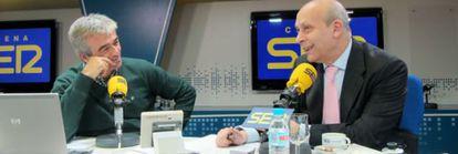 José Ignacio Wert, en su entrevista con Carles Francino en la SER.