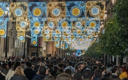 La avenida de la Constitución de Sevilla, el 6 de diciembre.
