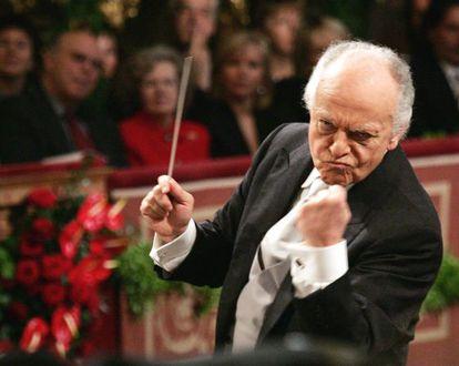El director de orquesta Lorin Maazel.