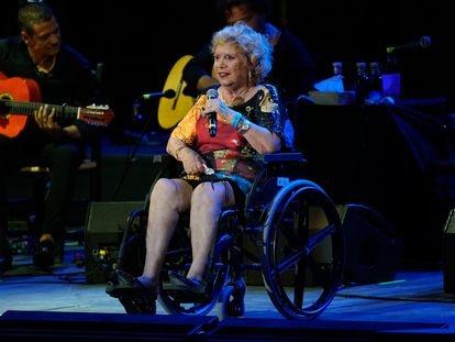 María Jiménez durante un concierto de Starlite en Marbella este sábado.