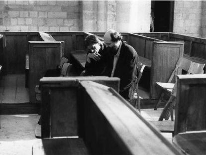Manfred Eicher y Arvo Pärt, durante la grabación de 'Miserere', en 1989 en Rouen.