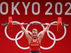 Tokyo 2020 Olympics - Weightlifting - Women's 87kg - Group B - Tokyo International Forum, Tokyo, Japan - August 2, 2021. Lidia Valentin of Spain in action. REUTERS/Edgard Garrido