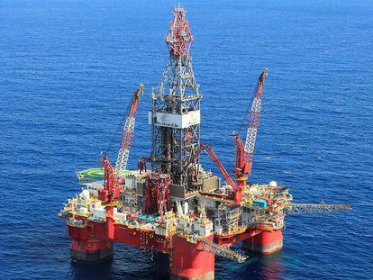 Un plataforma petrolera en el Golfo de México.